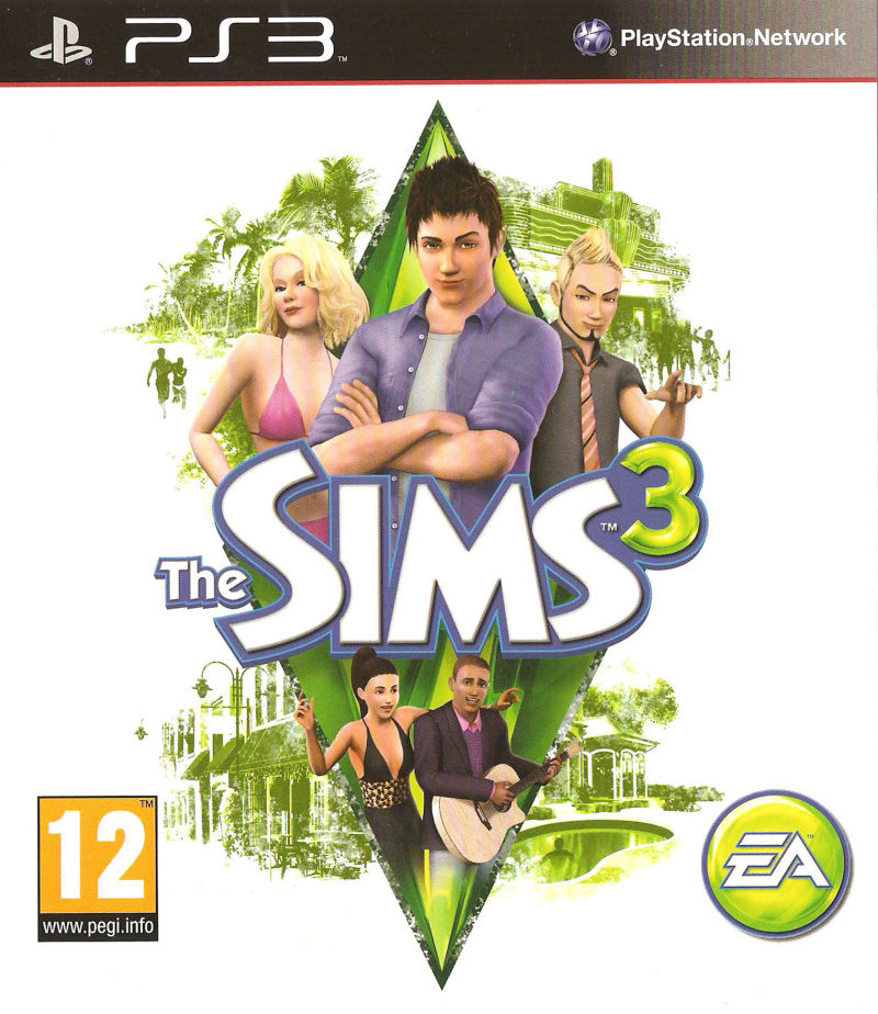 The Sims 3 PlayStation 3 Front Cover