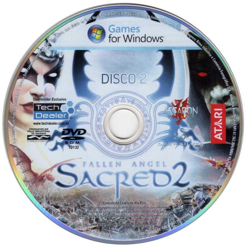 Sacred 2: Fallen Angel Windows Media Disc 2/2