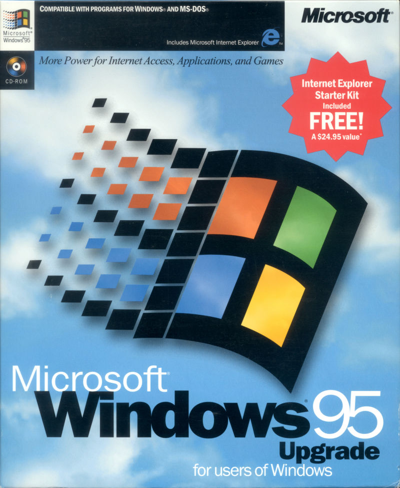 Microsoft Windows 95 (included games) Windows Front Cover