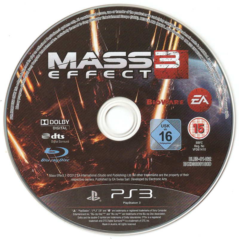 Mass Effect 3 PlayStation 3 Media
