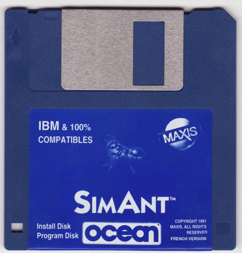 "SimAnt: The Electronic Ant Colony DOS Media 3.5"" disk 1/2"