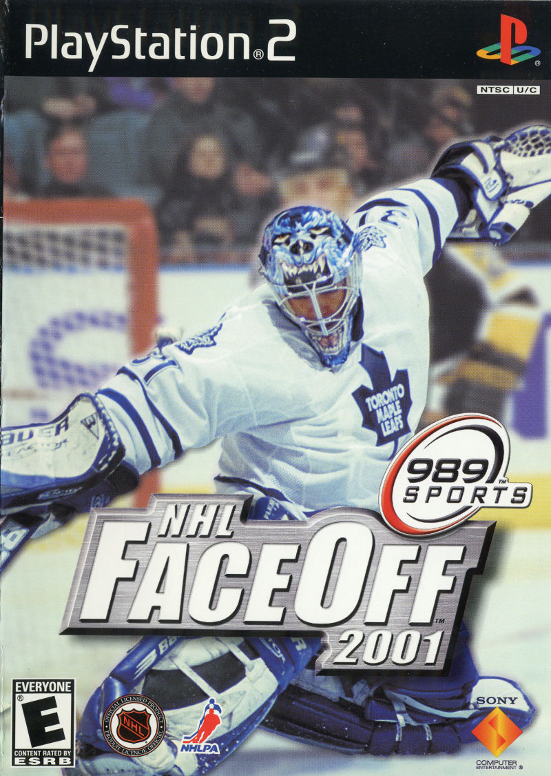 NHL FaceOff 2001 PlayStation 2 Front Cover