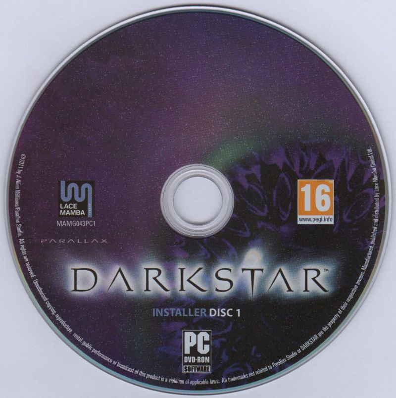 DARKSTAR: The Interactive Movie Macintosh Media Installer Disc 1 Windows