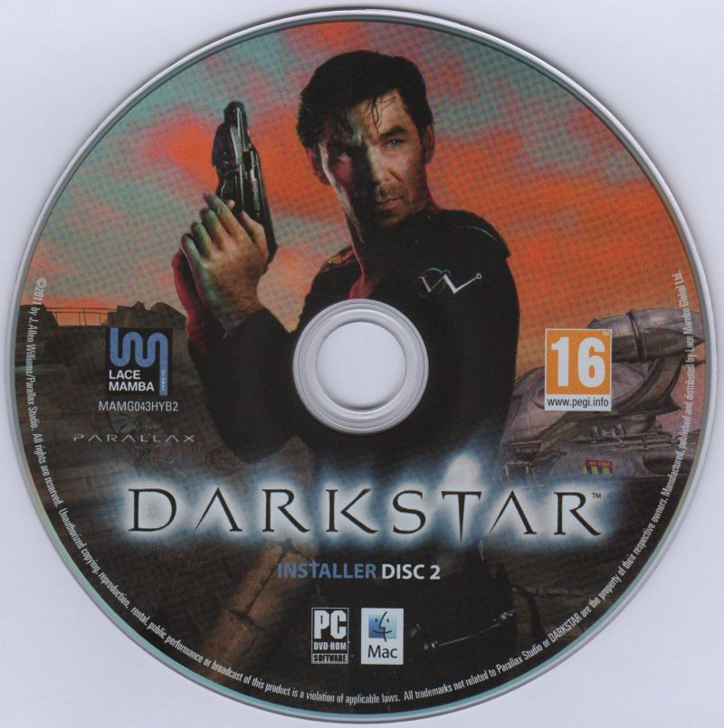 DARKSTAR: The Interactive Movie Macintosh Media Installer Disc 2 Windows/MAC