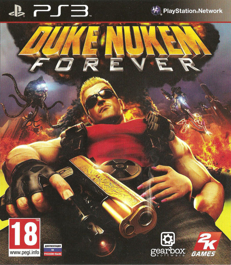 Duke Nukem Forever PlayStation 3 Front Cover