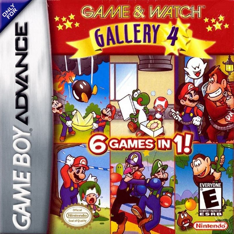 Game & Watch Gallery 4 Game Boy Advance Front Cover