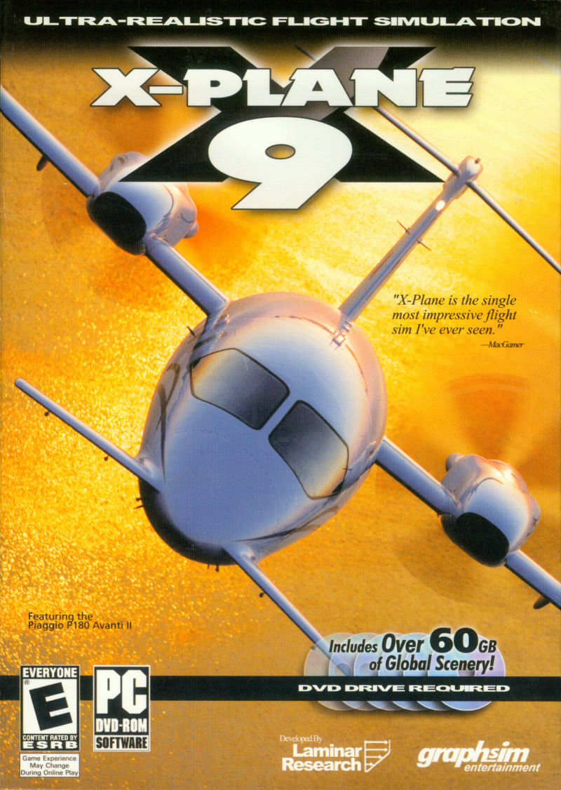 X-Plane 9 Windows Front Cover