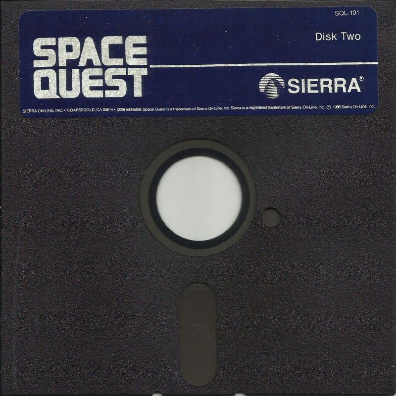 Space Quest: Chapter I - The Sarien Encounter DOS Media Disk Two