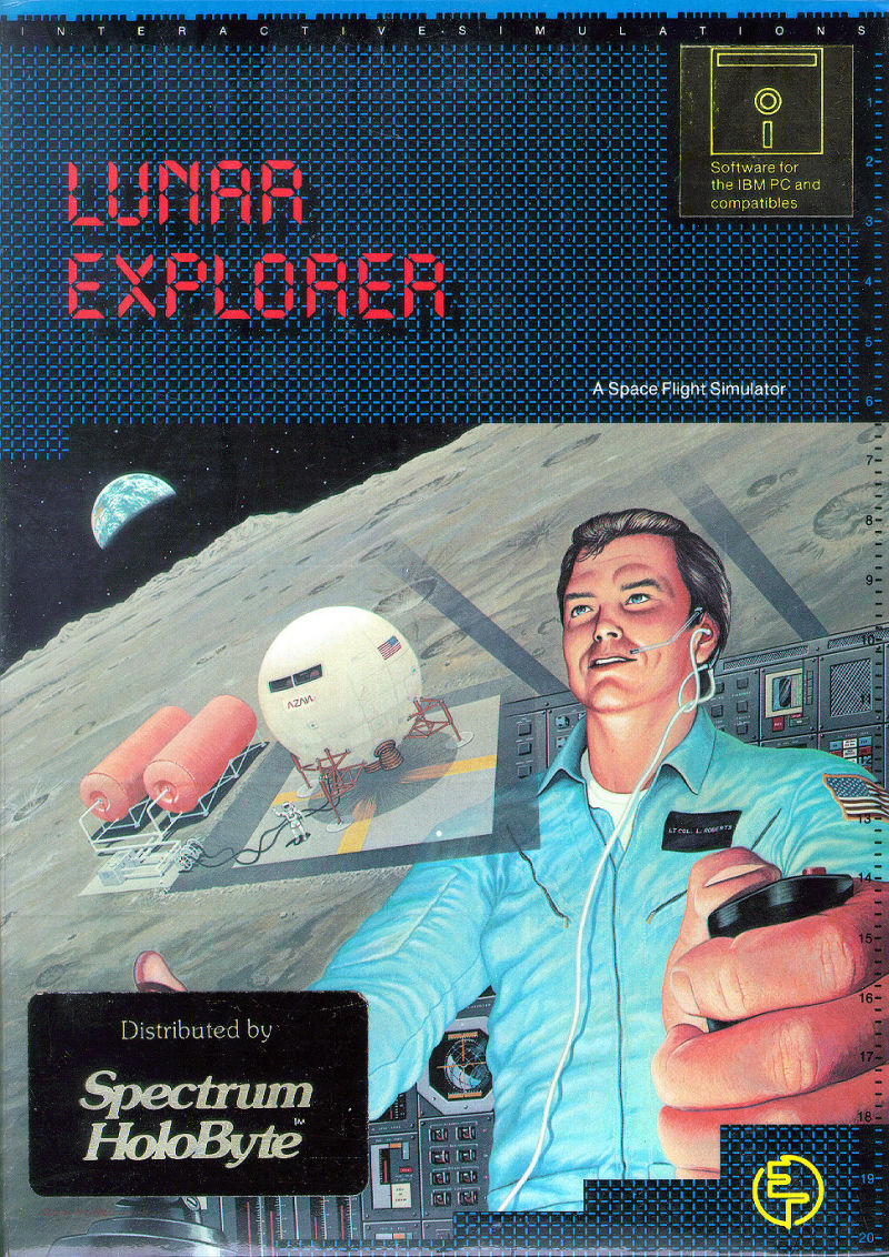 Lunar Explorer: A Space Flight Simulator DOS Front Cover