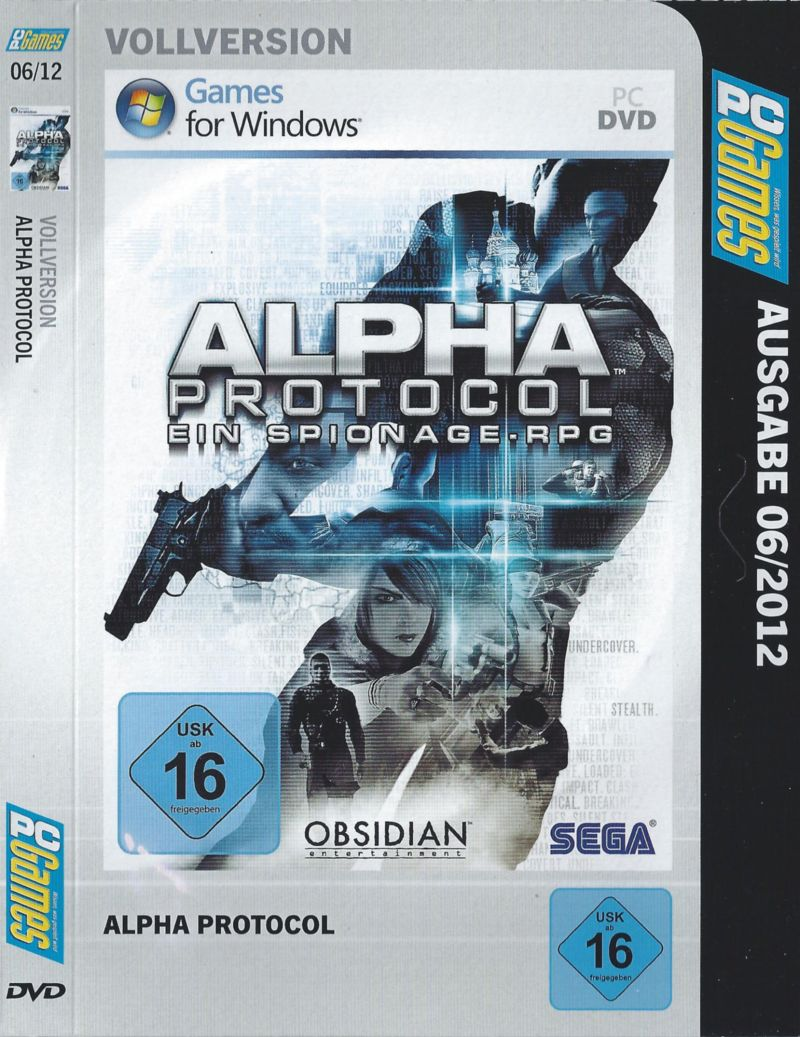 Alpha Protocol Windows Other Cardboard Sleeve - Front - Disc 1