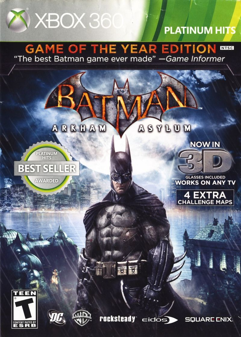 Batman: Arkham Asylum - Game of the Year Edition Xbox 360 Front Cover