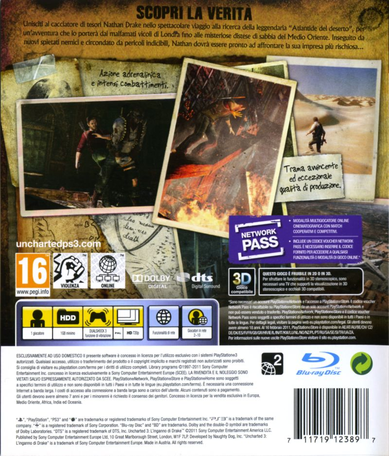 Uncharted 3 Drake S Deception 2011 Box Cover Art Mobygames