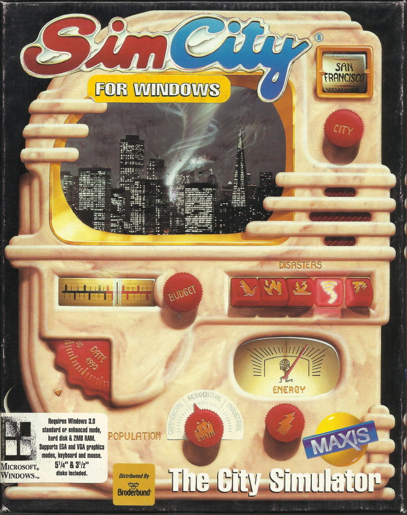 SimCity Windows 3.x Front Cover