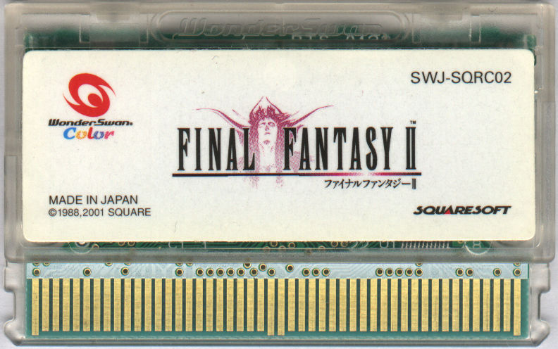 Final Fantasy II WonderSwan Color Media