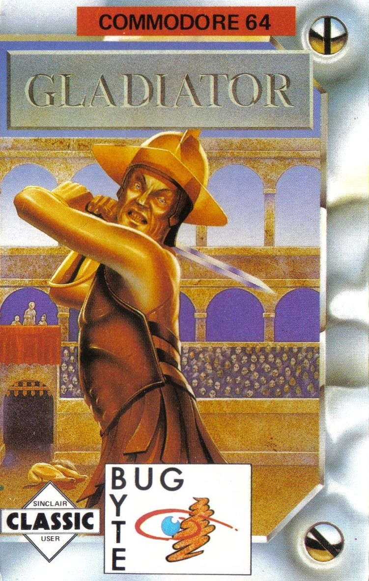 Gladiator Commodore 64 Front Cover