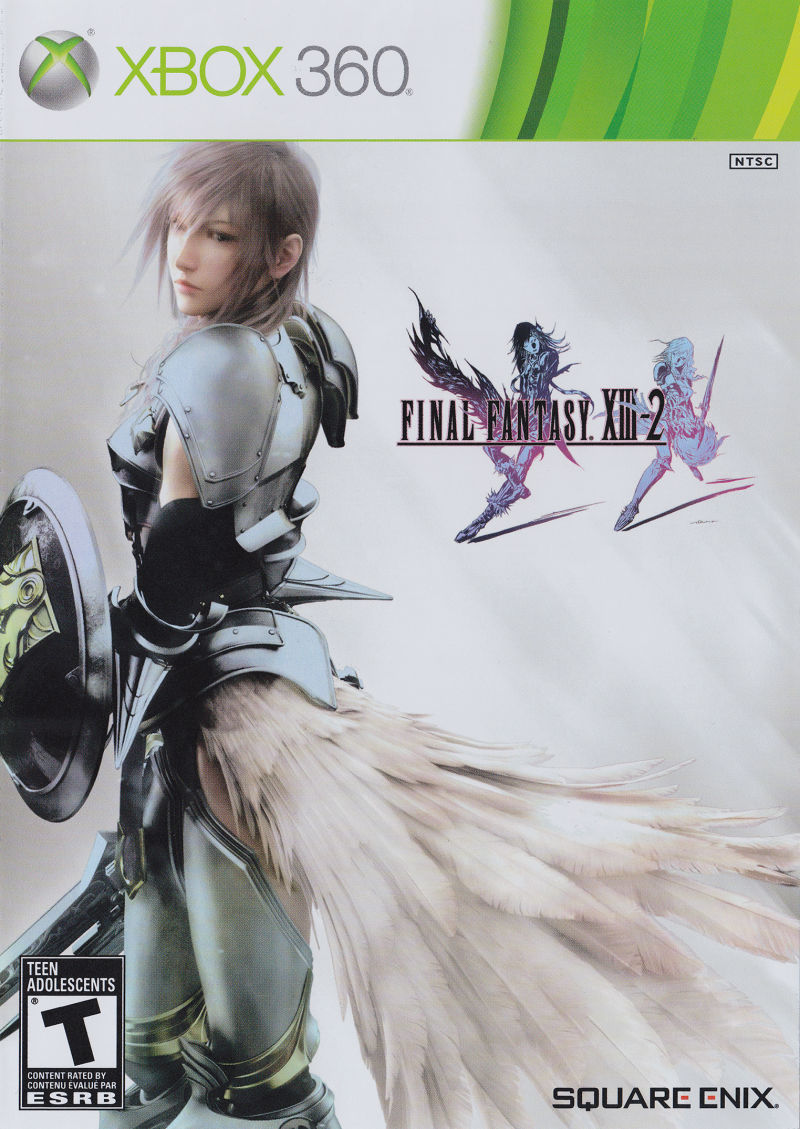 Final Fantasy XIII-2 Xbox 360 Front Cover