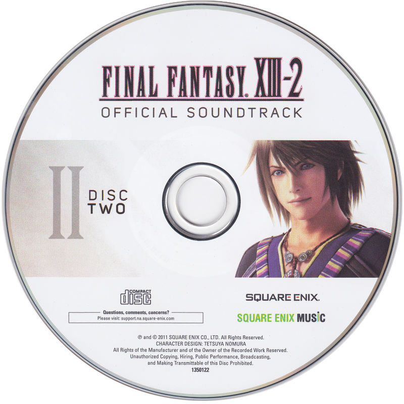 Final Fantasy XIII-2 (Collector's Edition) Xbox 360 Media Soundtrack - disc 2