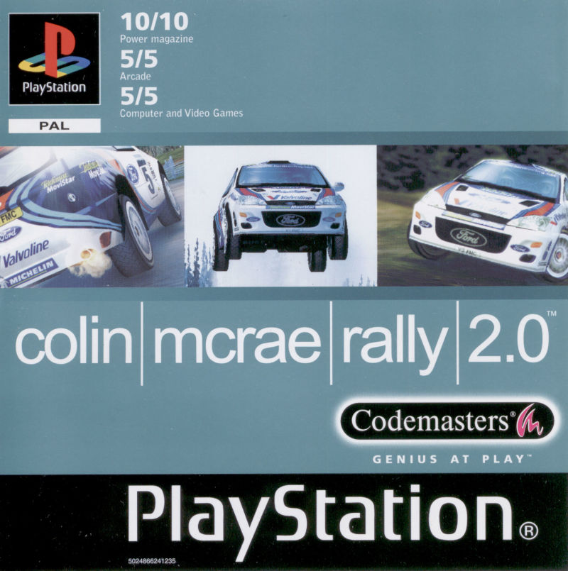 Colin McRae Rally 2.0 PlayStation Front Cover