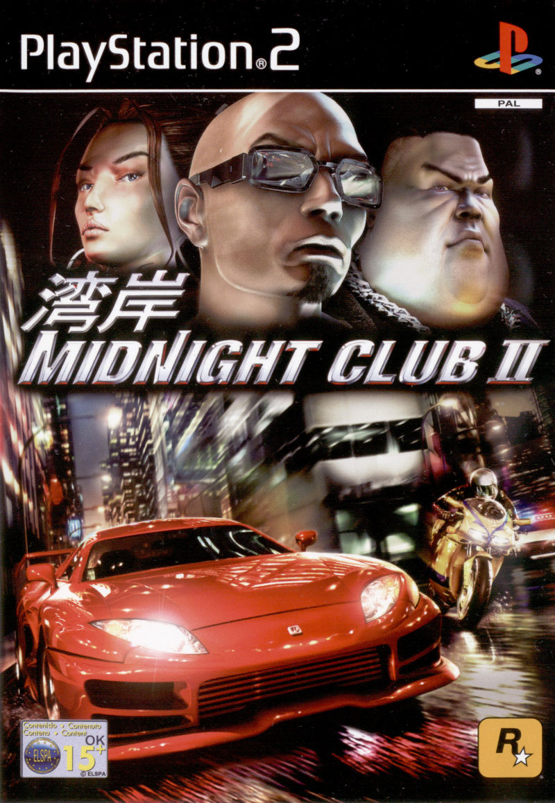 Midnight Club II PlayStation 2 Front Cover