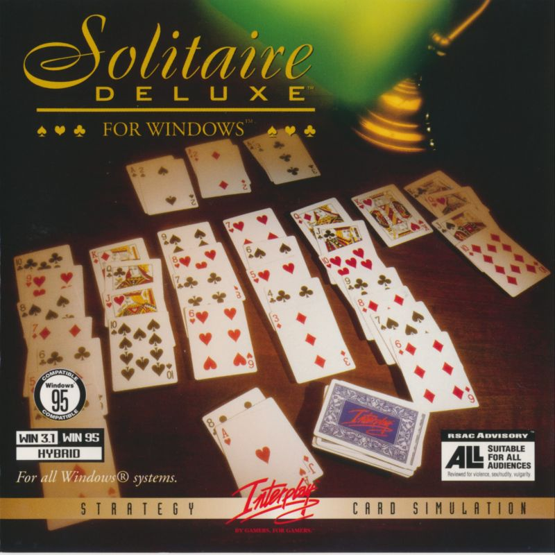 Solitaire Deluxe Windows 3.x Front Cover