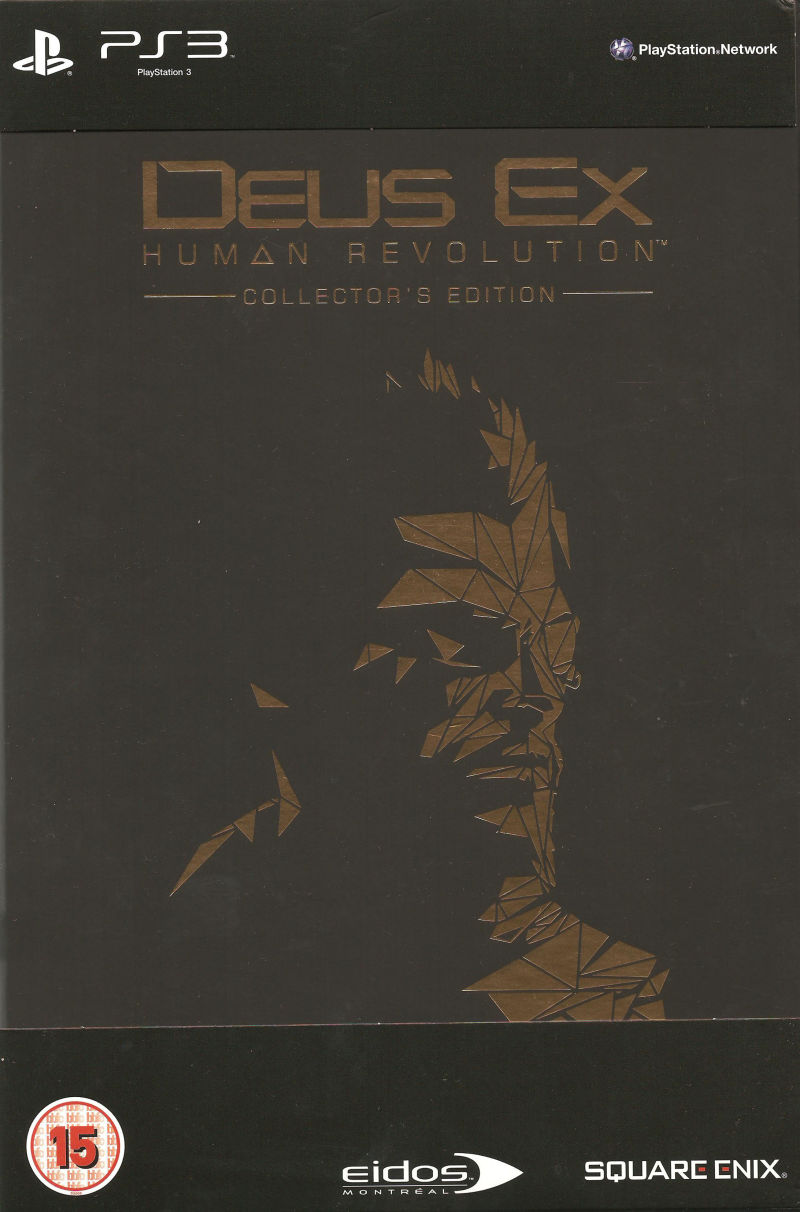 Deus Ex: Human Revolution (Collector's Edition) PlayStation 3 Front Cover