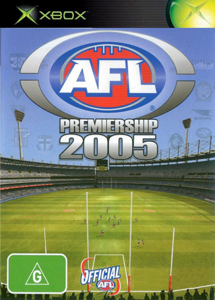 AFL Premiership 2005 Xbox Front Cover