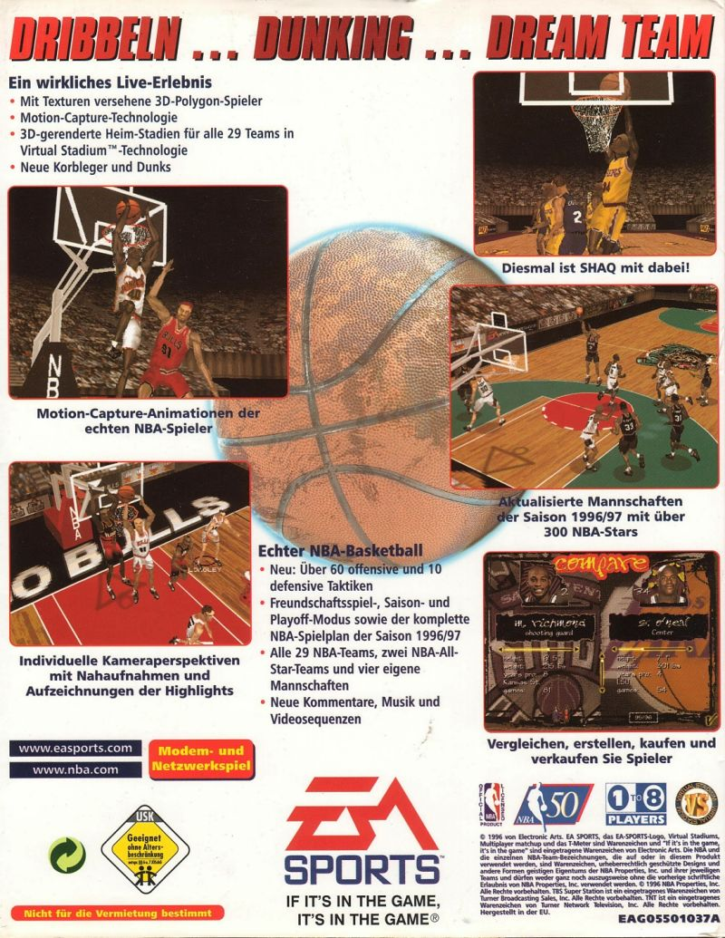 NBA Live 97 DOS Back Cover