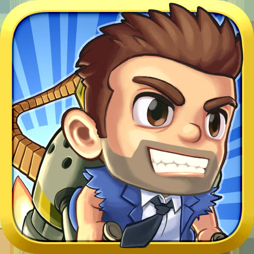 Jetpack Joyride iPad Front Cover