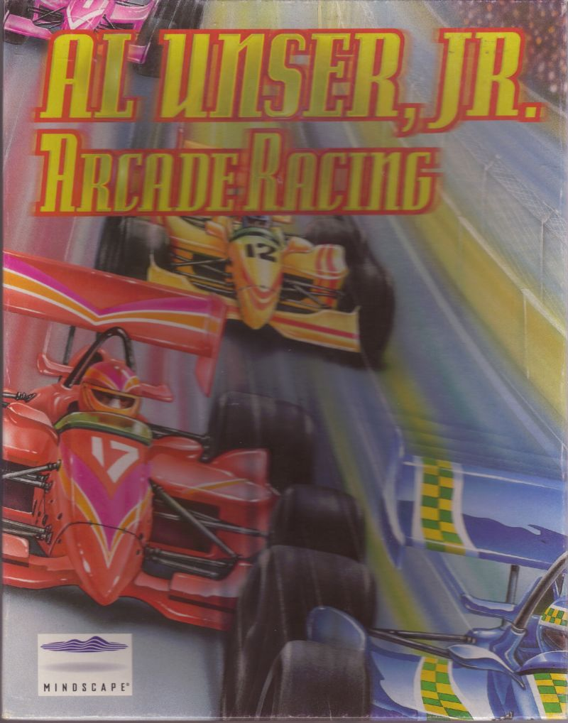 Al Unser, Jr. Arcade Racing Windows 3.x Front Cover