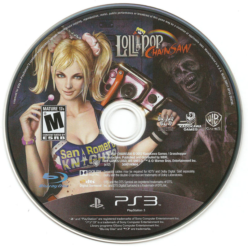 Lollipop Chainsaw PlayStation 3 Media