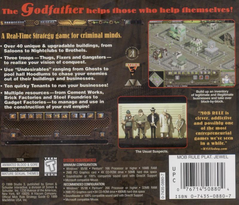 Mob Rule: Platinum Edition Windows Other Jewel Case - Back