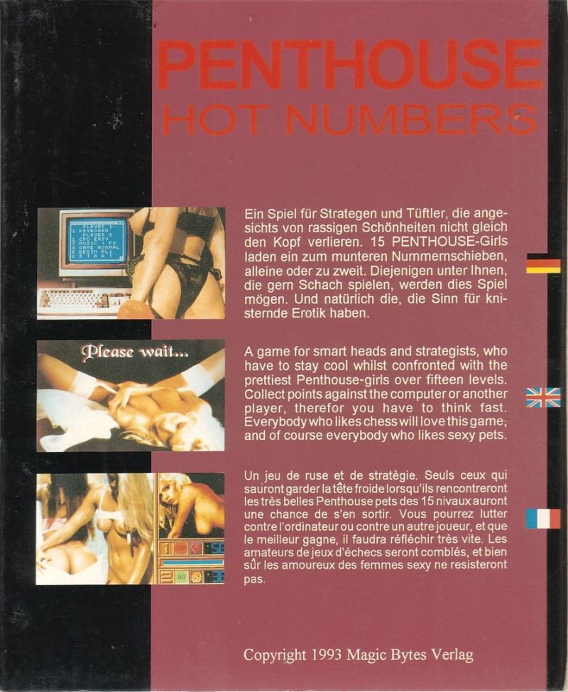 Penthouse Hot Numbers DOS Back Cover