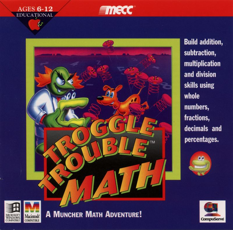 Troggle Trouble Math Macintosh Front Cover