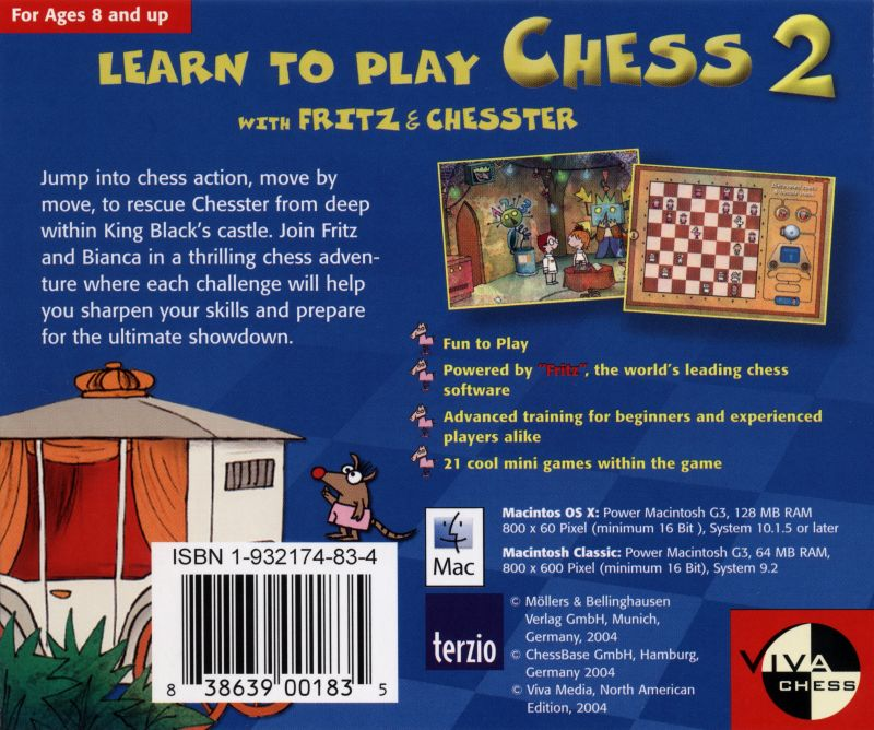 Learn to Play Chess with Fritz & Chesster 2: Chess in the Black Castle Macintosh Back Cover