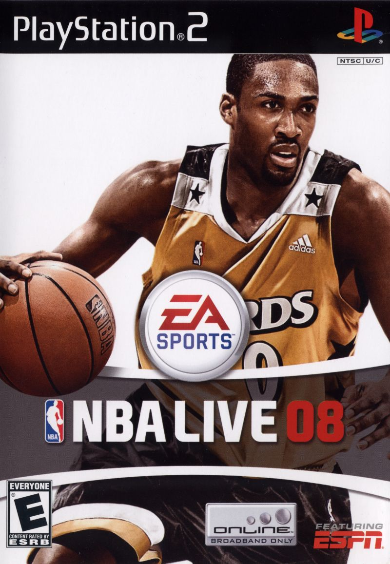 NBA Live 08 PlayStation 2 Front Cover