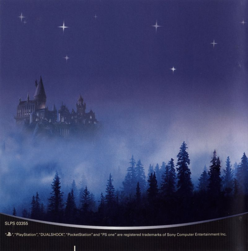 Harry Potter and the Sorcerer's Stone PlayStation Inside Cover Front Reverse