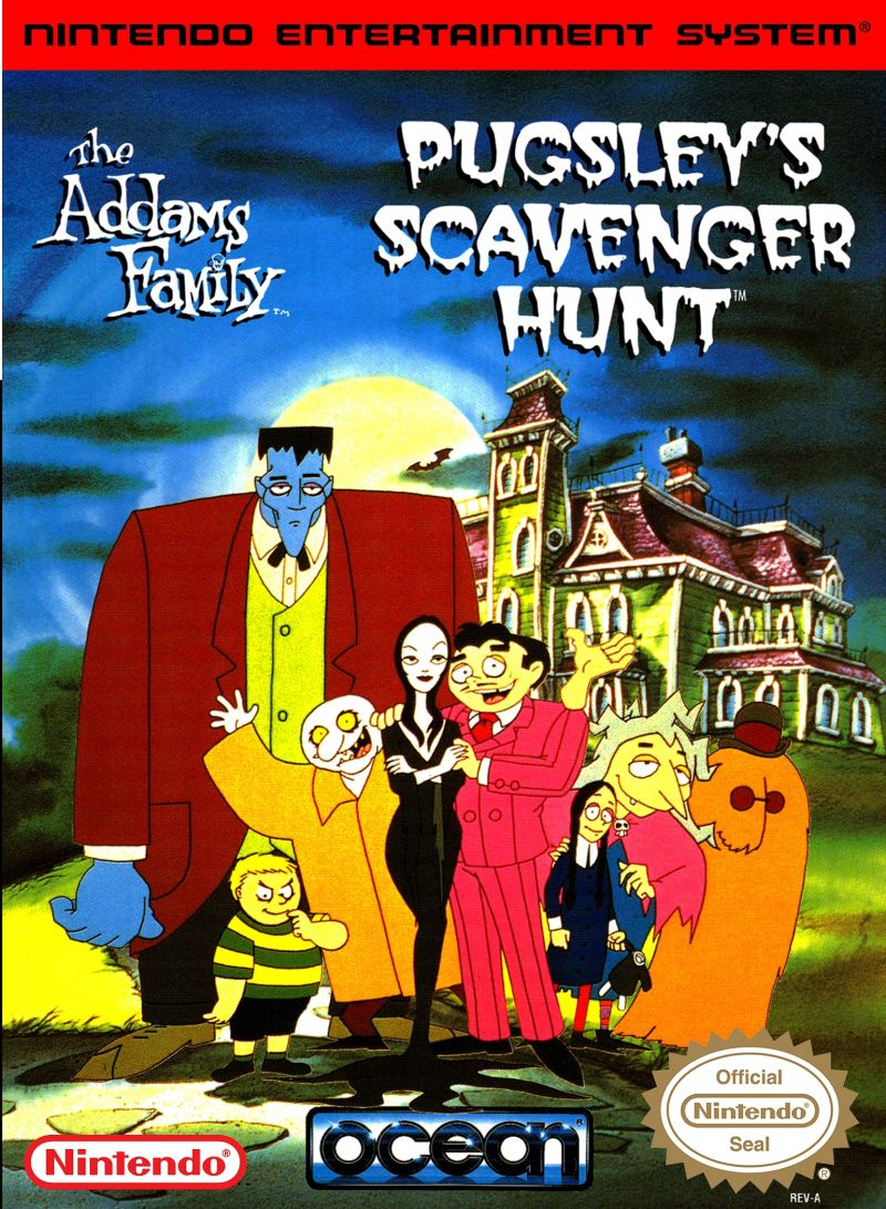 The Addams Family: Pugsley's Scavenger Hunt NES Front Cover
