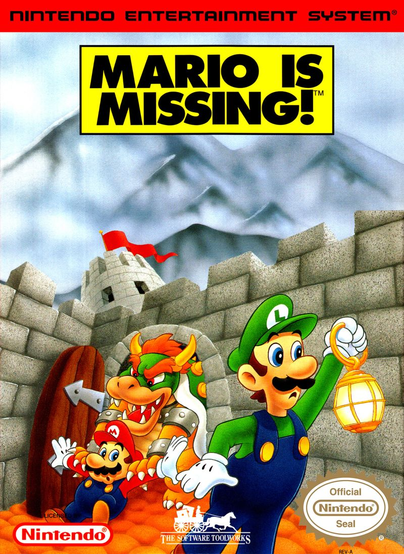 Mario is Missing! NES Front Cover
