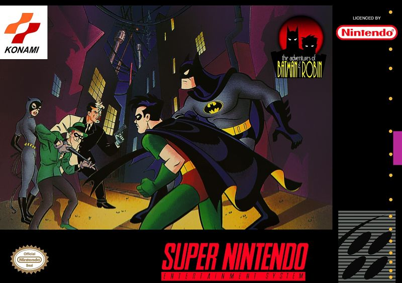 The Adventures of Batman & Robin SNES Front Cover