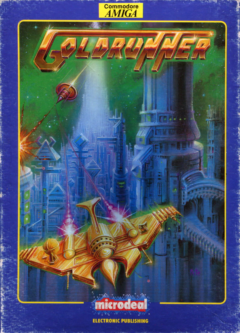 Goldrunner Amiga Front Cover