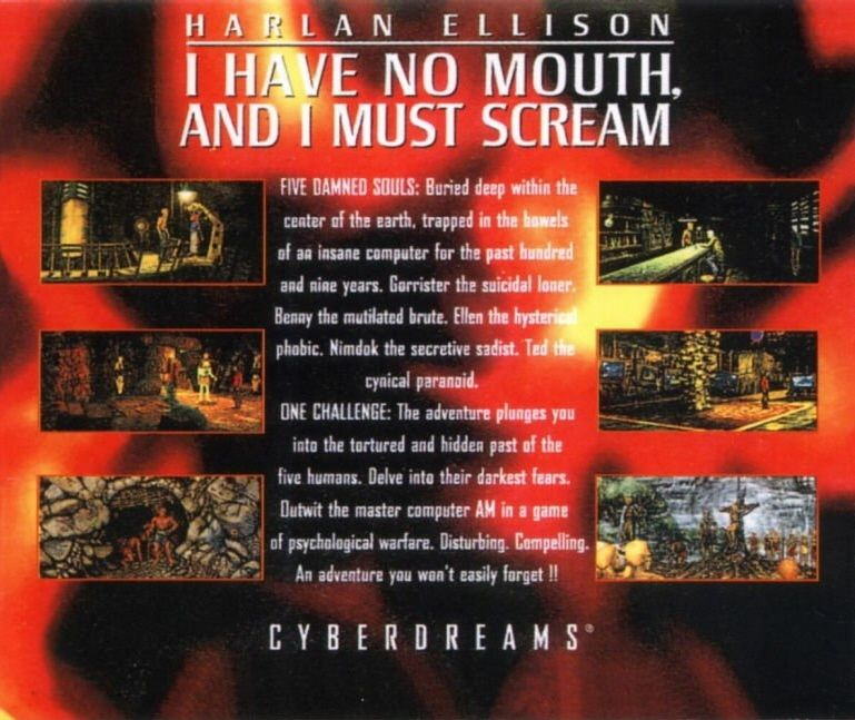 Harlan Ellison: I Have No Mouth, and I Must Scream DOS Other Jewel Case - Back