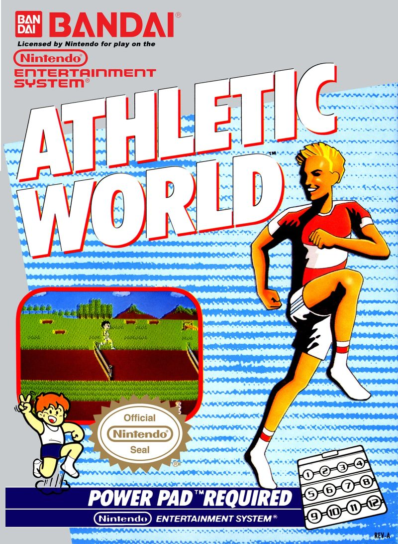 Athletic World NES Front Cover