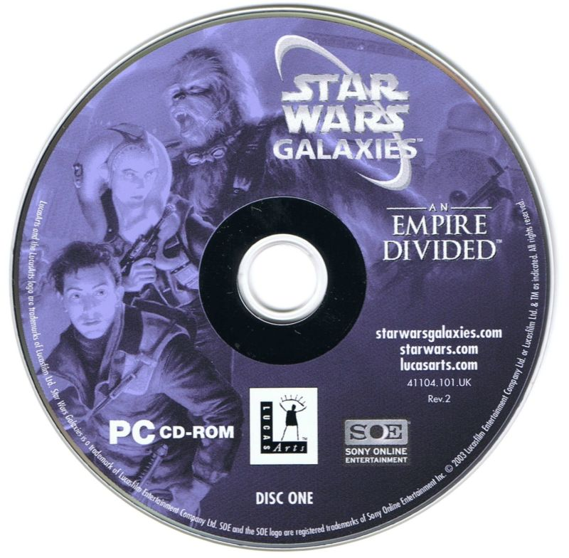 Star Wars: Galaxies - An Empire Divided Windows Media Disc 1