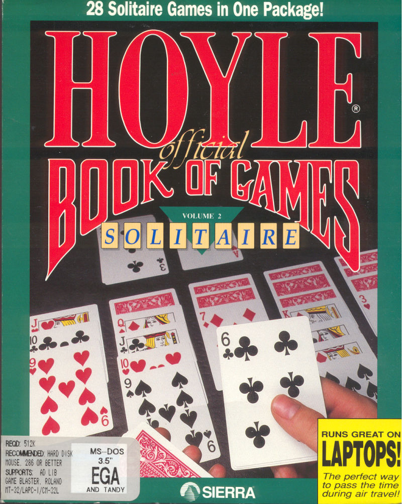 Hoyle Official Book of Games: Volume 2 DOS Front Cover