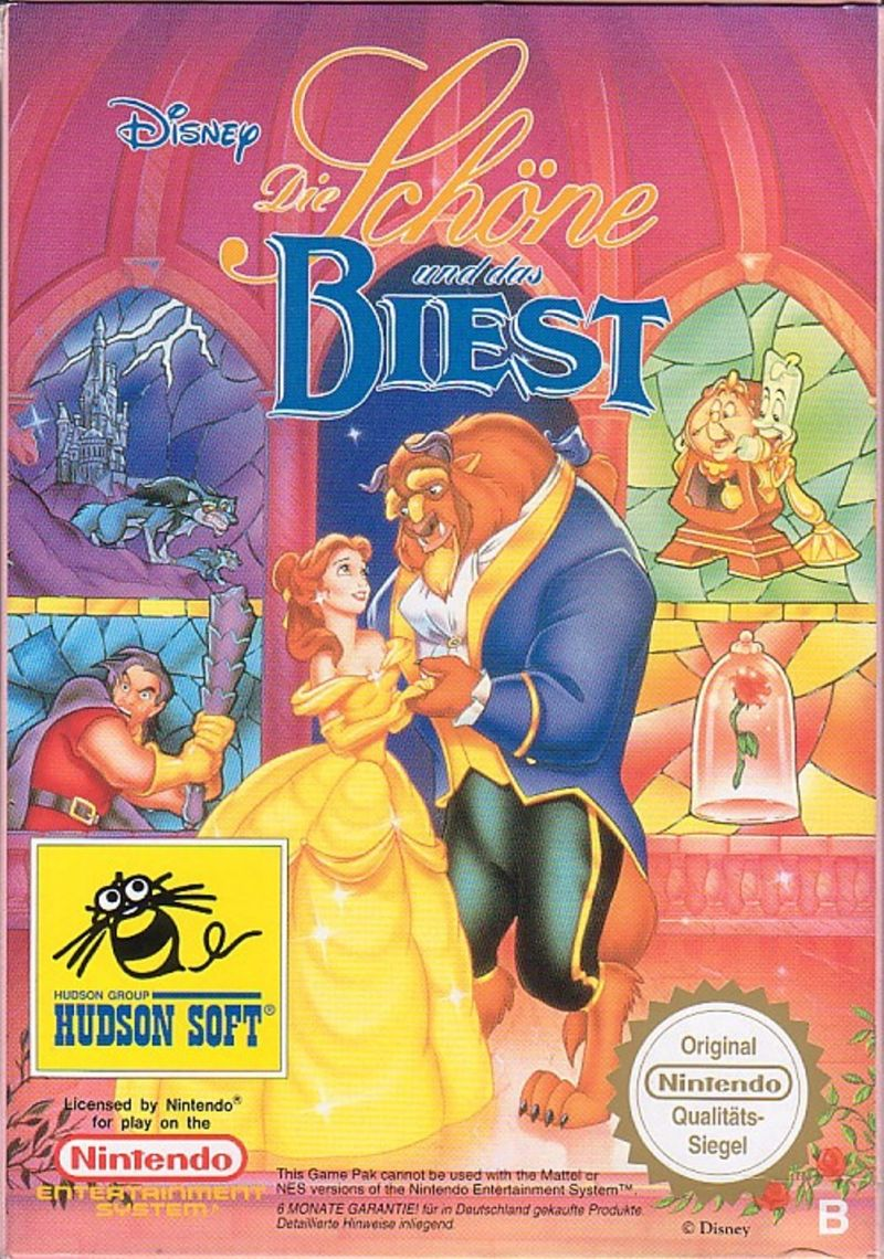 Disney's Beauty and the Beast (1994) NES box cover art ...