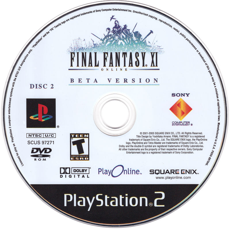 Final Fantasy XI Online PlayStation 2 Media Disc 2