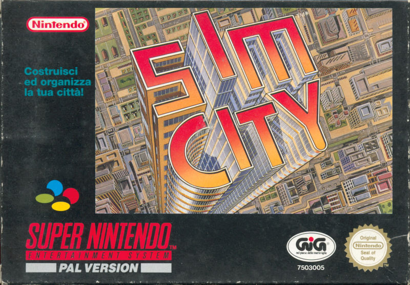 SimCity SNES Front Cover