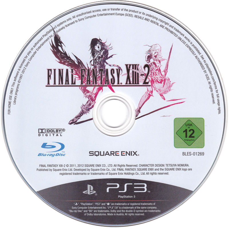 Final Fantasy XIII-2 (Limited Collector's Edition) PlayStation 3 Media