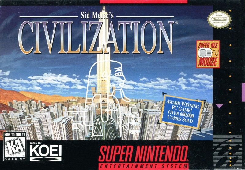 sid meier s civilization for snes 1994 mobygames rh mobygames com sid meier's civilization snes manual sid meier's civilization snes manual