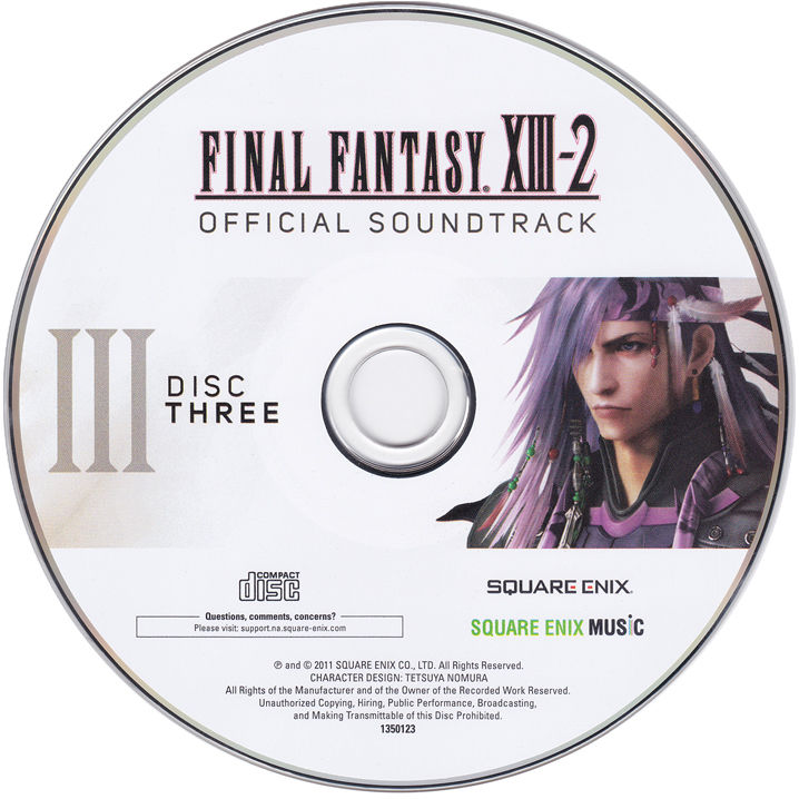 Final Fantasy XIII-2 (Collector's Edition) PlayStation 3 Media Soundtrack - disc 3
